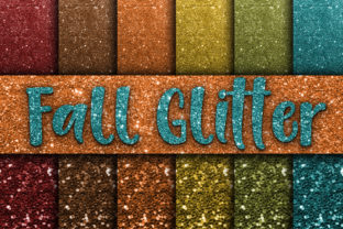 Fall Glitter Digital Paper Textures Graphic By oldmarketdesigns