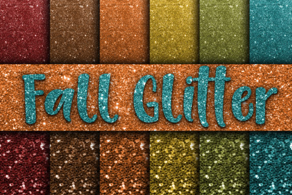 Download Free Fall Glitter Digital Paper Textures Graphic By Oldmarketdesigns for Cricut Explore, Silhouette and other cutting machines.