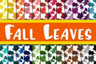 Fall Leaves Digital Papers Graphic By oldmarketdesigns