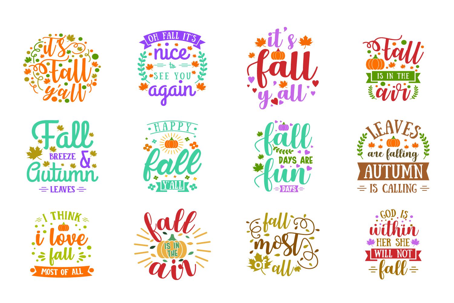 Fall Quote Bundle Graphic By Graphicrun123 Creative Fabrica