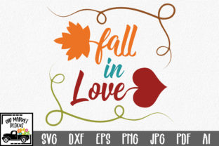 Fall in Love SVG Cut File Graphic By oldmarketdesigns