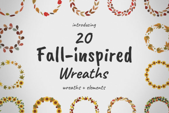 Fall-inspired Wreaths & Elements Graphic By potpourri Image 1
