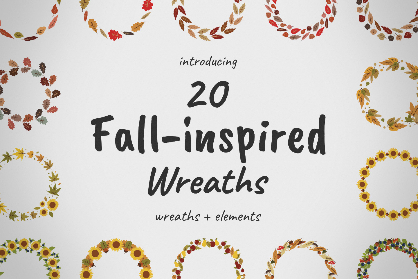 Download Free Fall Inspired Wreaths Elements Graphic By Potpourri Creative for Cricut Explore, Silhouette and other cutting machines.