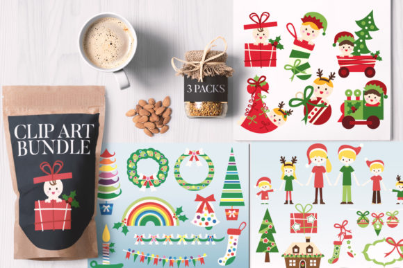 Print on Demand: Family Christmas Bundle Graphic Illustrations By Revidevi