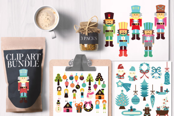 Print on Demand: Fantastic Christmas Bundle Graphic Illustrations By Revidevi - Image 1