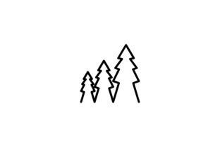 Download Free Fir Tree Mono Line Logo Graphic By Yahyaanasatokillah Creative for Cricut Explore, Silhouette and other cutting machines.