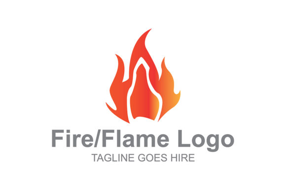 Download Free Fire Logo Icon Graphic By Guardesign Creative Fabrica for Cricut Explore, Silhouette and other cutting machines.