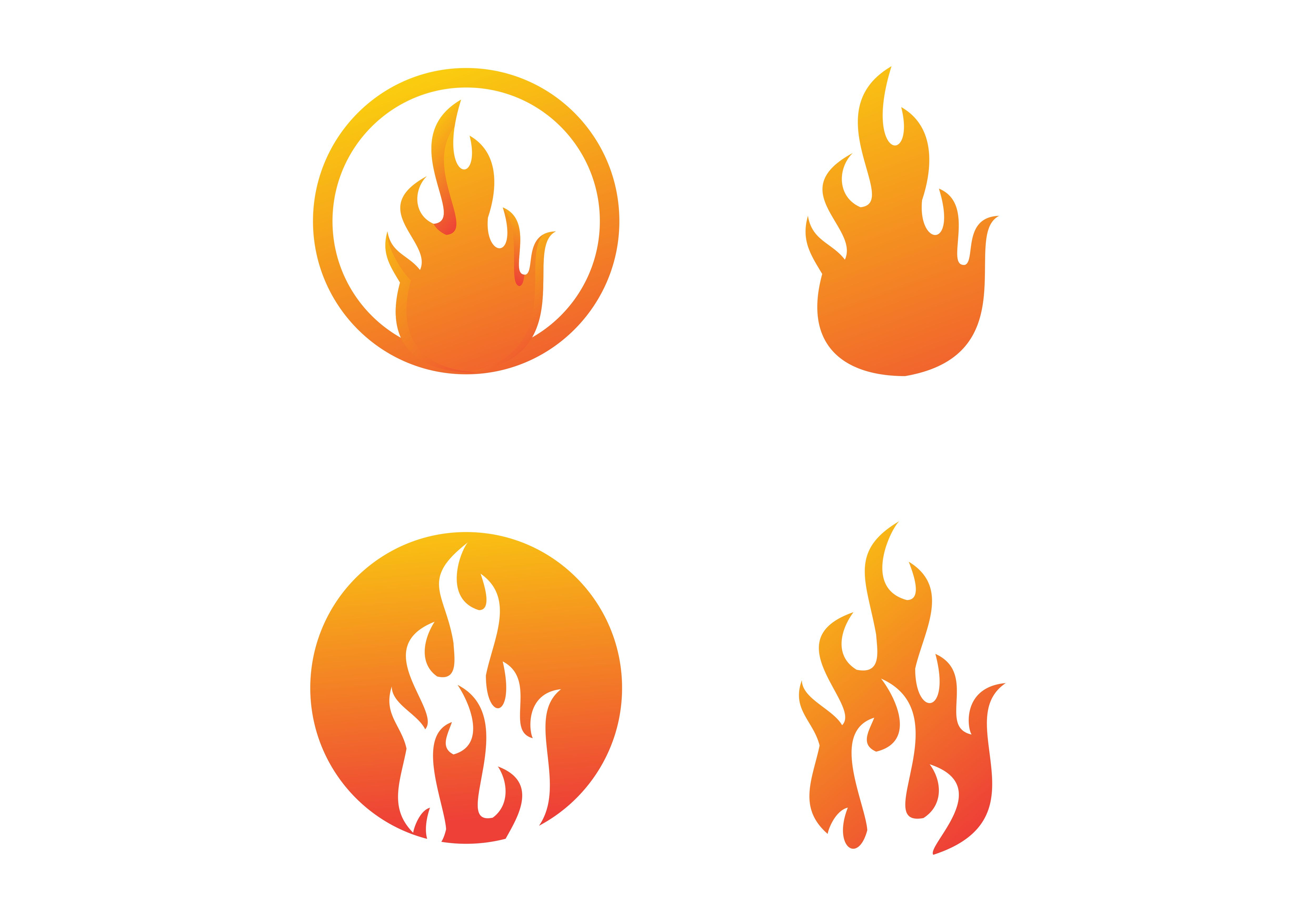 Download Free Flame Fire Logo Graphic By Deemka Studio Creative Fabrica for Cricut Explore, Silhouette and other cutting machines.