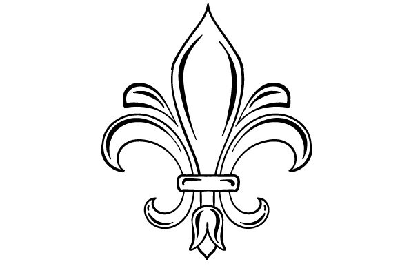 Fleur Du Lis in Festival Colors Mardi Gras Craft Cut File By Creative Fabrica Crafts - Image 2
