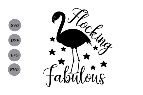 Download Free Flocking Fabulous Svg Graphic By Cosmosfineart Creative Fabrica for Cricut Explore, Silhouette and other cutting machines.