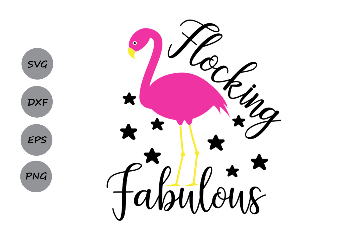 Download Free Flocking Fabulous Graphic By Cosmosfineart Creative Fabrica for Cricut Explore, Silhouette and other cutting machines.