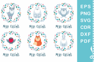Download Free Floral Christmas Woodland Animals Graphic By Olga Belova SVG Cut Files