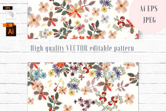 Floral Vector Seamless Pattern Graphic Patterns By fleurartmariia
