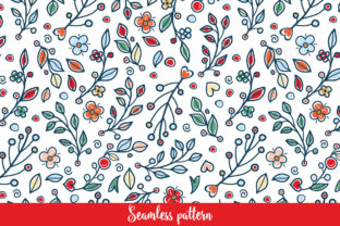 Print on Demand: Flower and Grass Pattern Graphic Patterns By zoyali