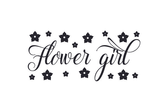 Flower Girl Svg Cut File By Creative Fabrica Crafts Creative