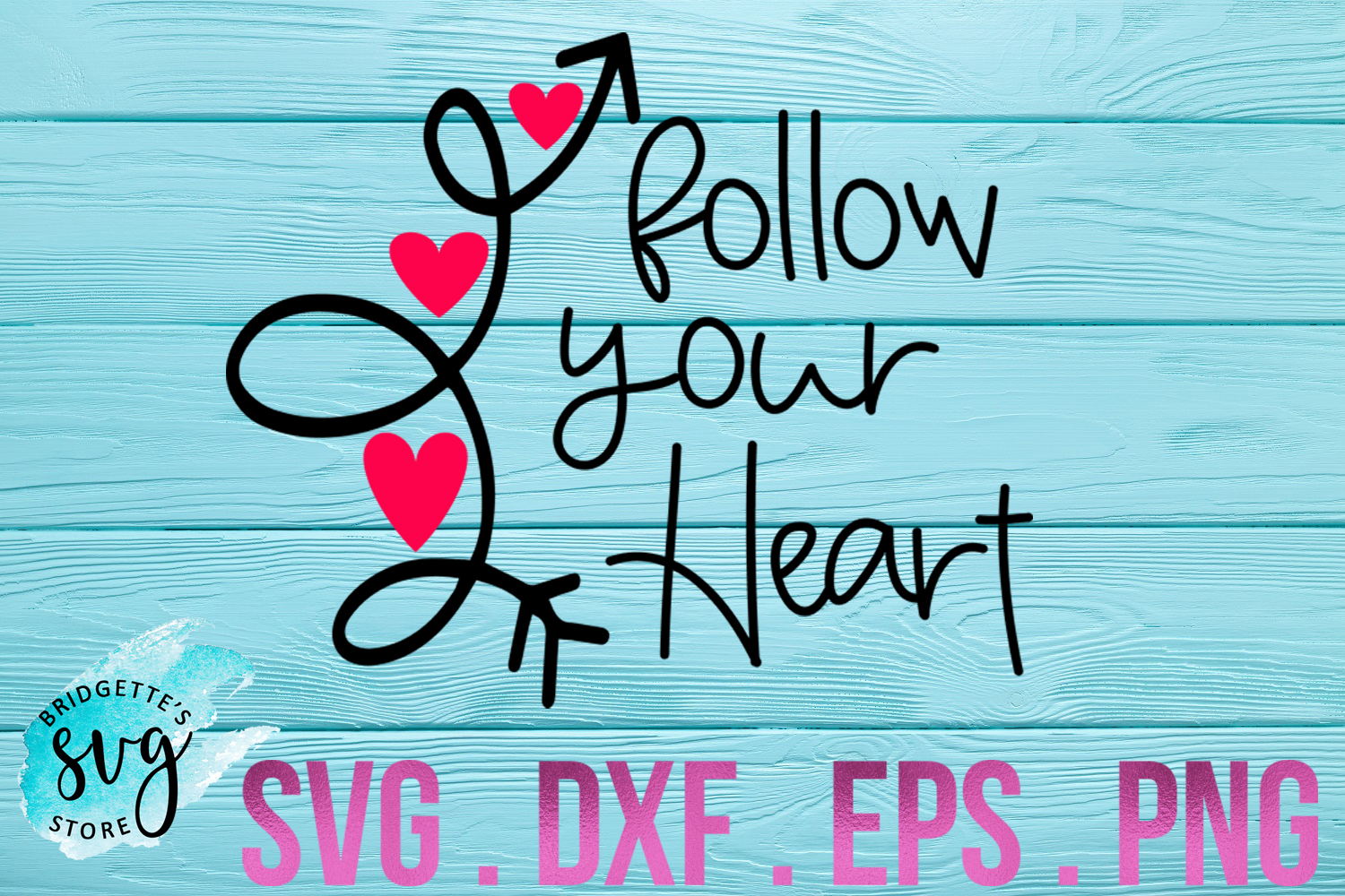 Follow Your Heart Svg Graphic By Luxmauve Creative Fabrica