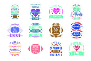 Download Free Football Bundle Graphic By Graphicrun123 Creative Fabrica for Cricut Explore, Silhouette and other cutting machines.