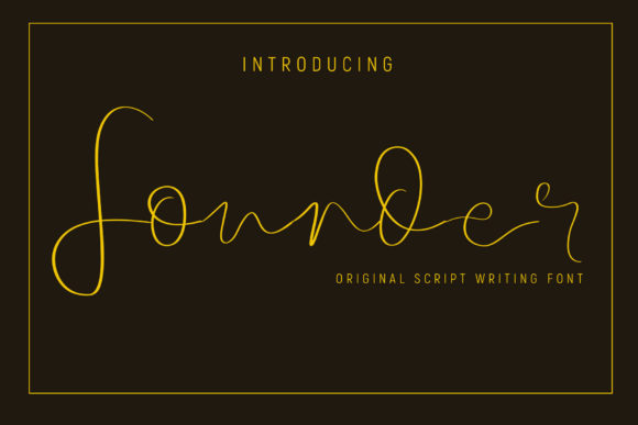 Print on Demand: Founder Script & Handwritten Font By gumacreative