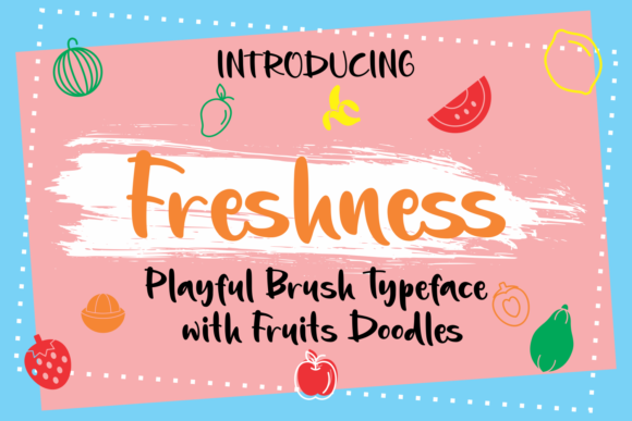 Print on Demand: Freshness Script & Handwritten Font By Rifki (7ntypes)
