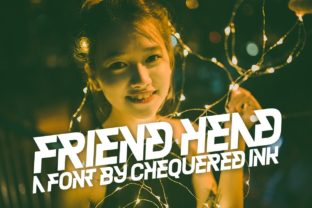 Friend Head Font By Chequered Ink