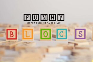 Print on Demand: Funny Blocs Dingbats Font By Cute files