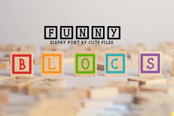 Print on Demand: Funny Blocks Dingbats Font By Cute files - Image 1