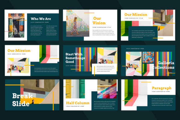 Galleria Colorful Powerpoint Presentation Graphic Presentation Templates By TMint - Image 3