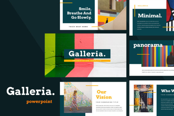 Galleria Colorful Powerpoint Presentation Graphic By TMint