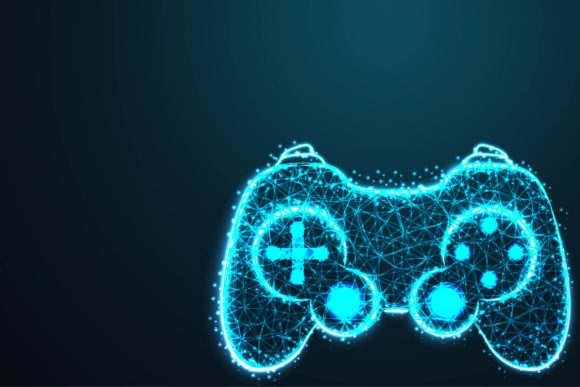 Download Free Game Pad Icon Background Grafik Von Ojosujono96 Creative Fabrica for Cricut Explore, Silhouette and other cutting machines.