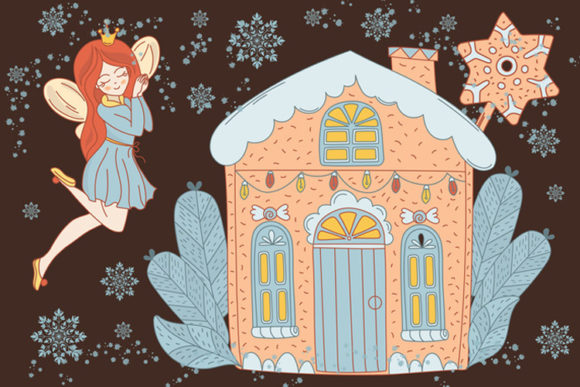 Download Free Gingerbread Fairy Christmas Cartoon Set Graphic By Farawaykingdom Creative Fabrica for Cricut Explore, Silhouette and other cutting machines.