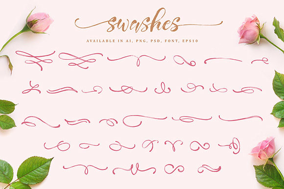 Print on Demand: Girly Things Family Script & Handwritten Font By fontsgood - Image 8