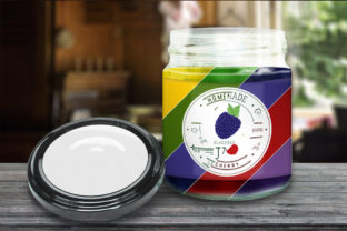 Glas Jar and Cap Mockup Graphic Product Mockups By Creative Fabrica Freebies 2