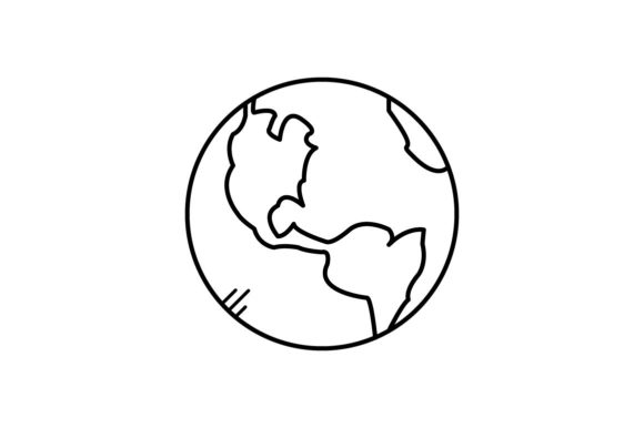 Print on Demand: Globe Graphic Icons By khld939