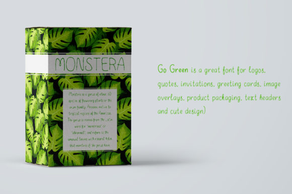 Print on Demand: Go Green Display Font By ilonitta.r - Image 3