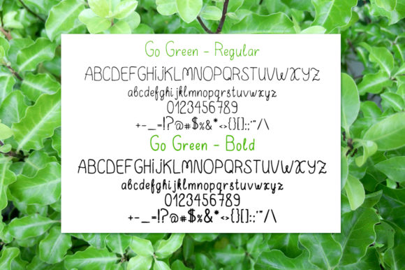 Print on Demand: Go Green Display Font By ilonitta.r - Image 5