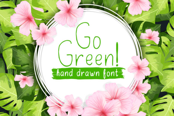 Print on Demand: Go Green Display Font By ilonitta.r - Image 1
