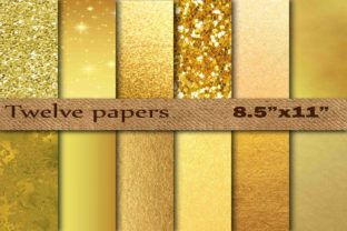 Gold Foil Digital Paper Graphic By twelvepapers