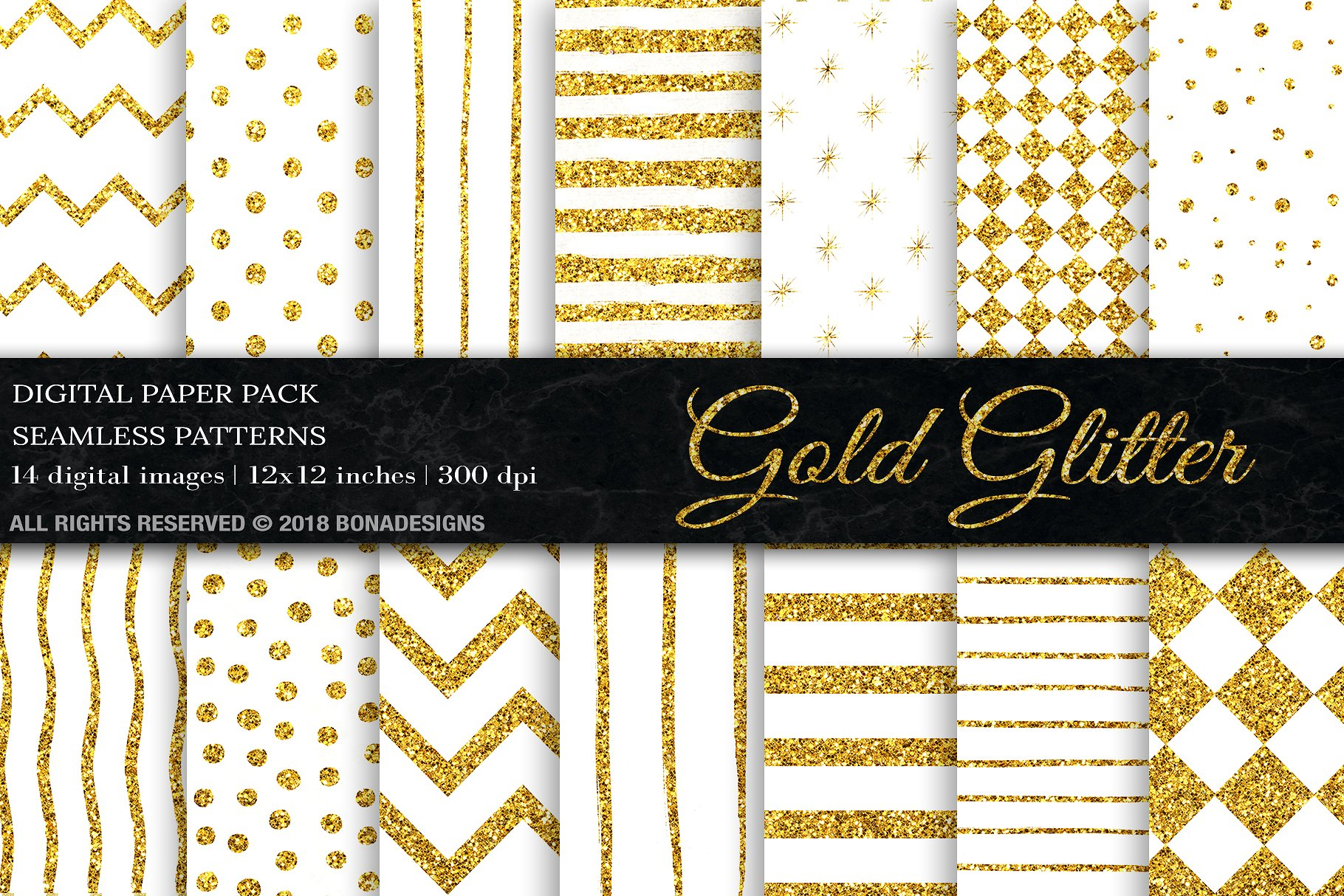 Download Free Gold Glitter Digital Paper Graphic By Bonadesigns Creative Fabrica for Cricut Explore, Silhouette and other cutting machines.