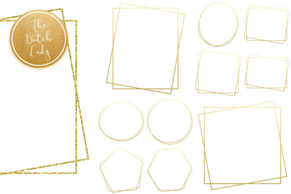 Download Free Golden Border Frame Clipart Set Graphic By Daphnepopuliers Creative Fabrica for Cricut Explore, Silhouette and other cutting machines.