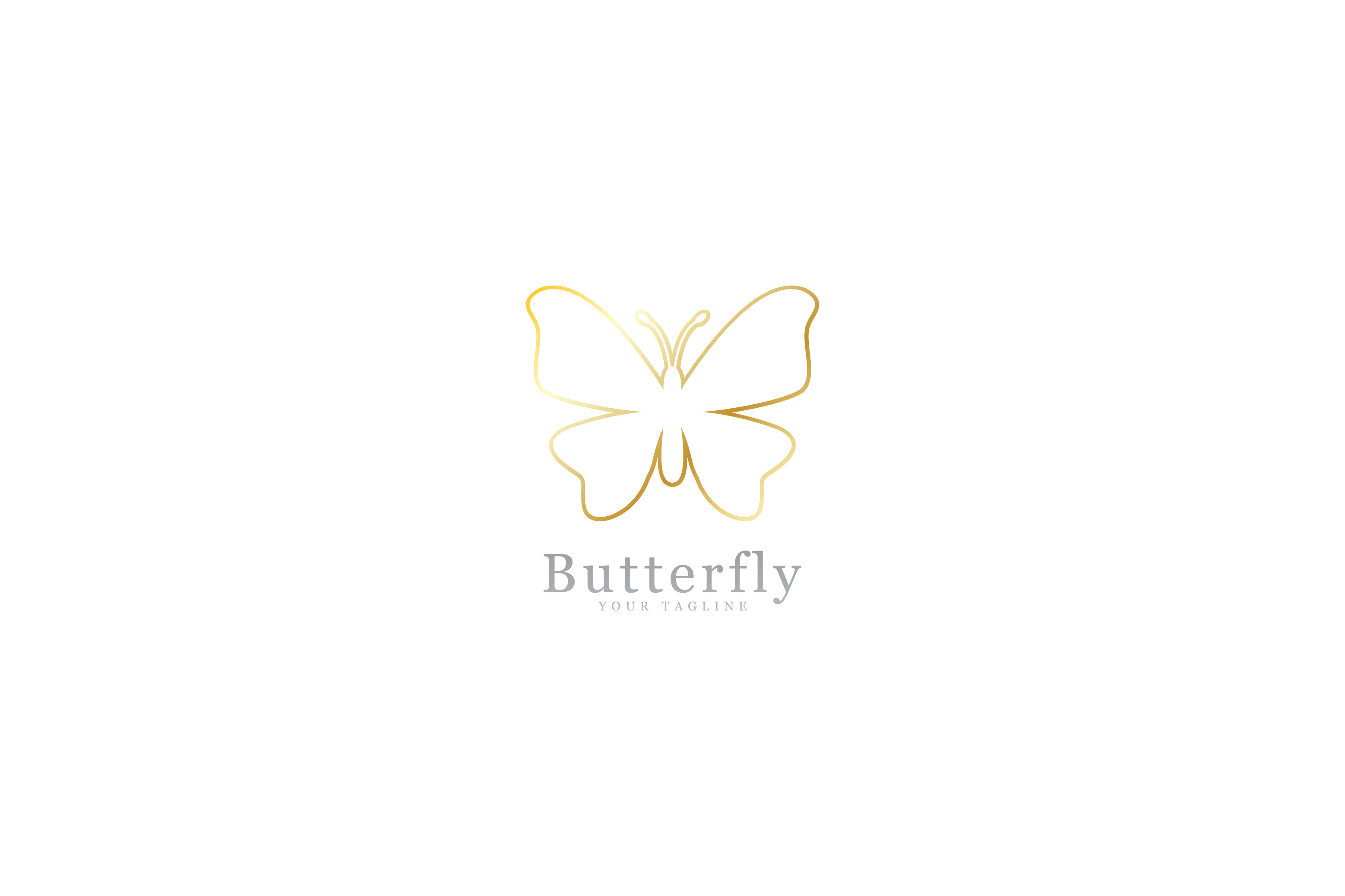 Download Free Golden Butterfly Logo Graphic By Sabavector Creative Fabrica for Cricut Explore, Silhouette and other cutting machines.