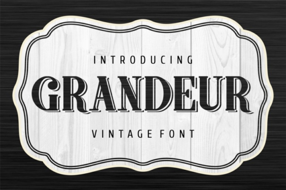 Print on Demand: Grandeur Display Font By bywahtung