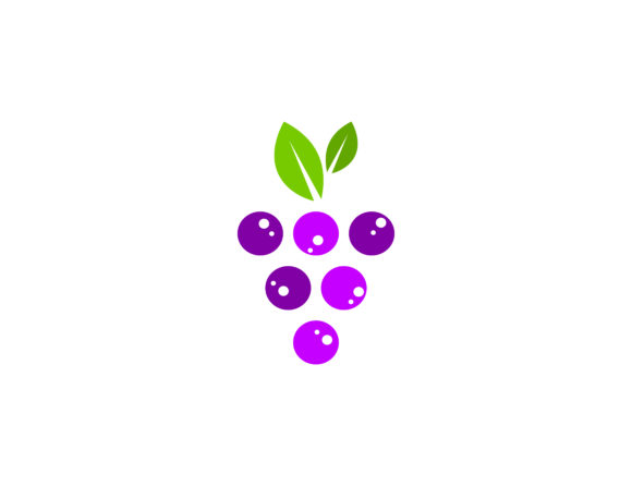Download Free Grapes Logo Grafico Por Meisuseno Creative Fabrica for Cricut Explore, Silhouette and other cutting machines.