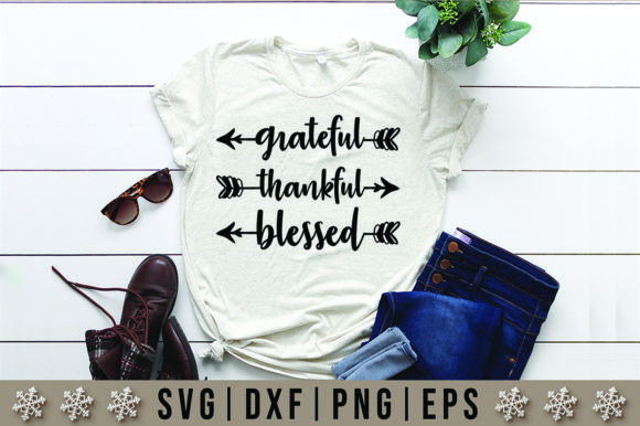 Download Free Grateful Thankful Blessed Quotes Svg Design Graphic By Artistcreativedesign Creative Fabrica for Cricut Explore, Silhouette and other cutting machines.