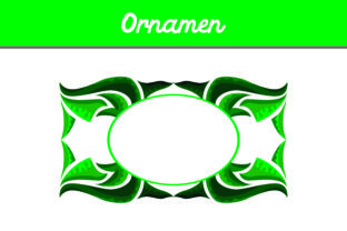 Green Frame Ornament Graphic By Arief Sapta Adjie
