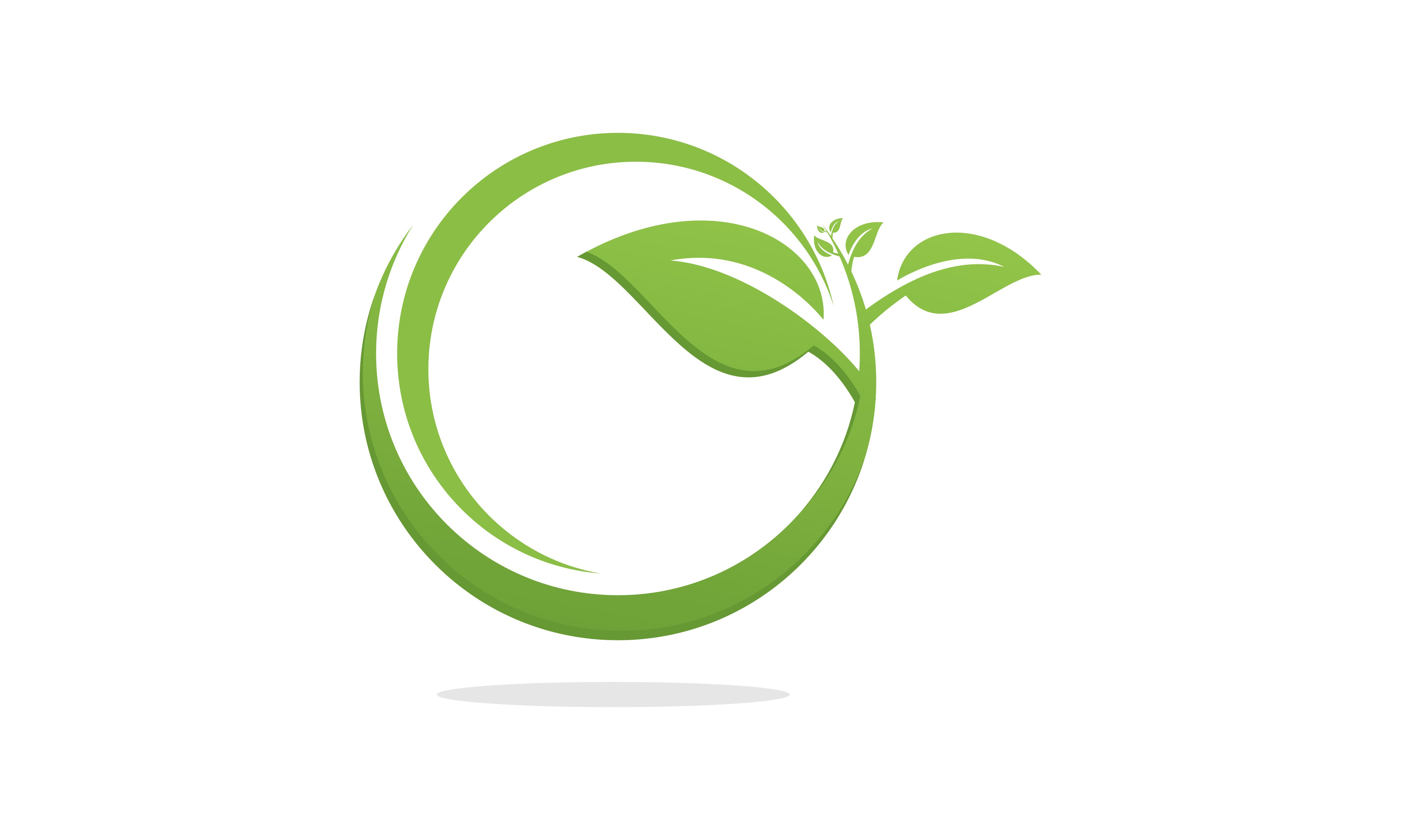Download Free Green Leaf Ecology Logo Graphic By 2qnah Creative Fabrica for Cricut Explore, Silhouette and other cutting machines.