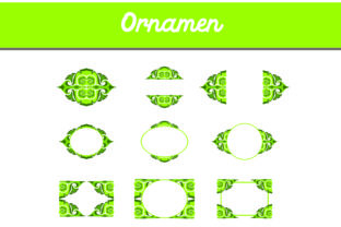 Green Ornament Bundle Graphic By Arief Sapta Adjie