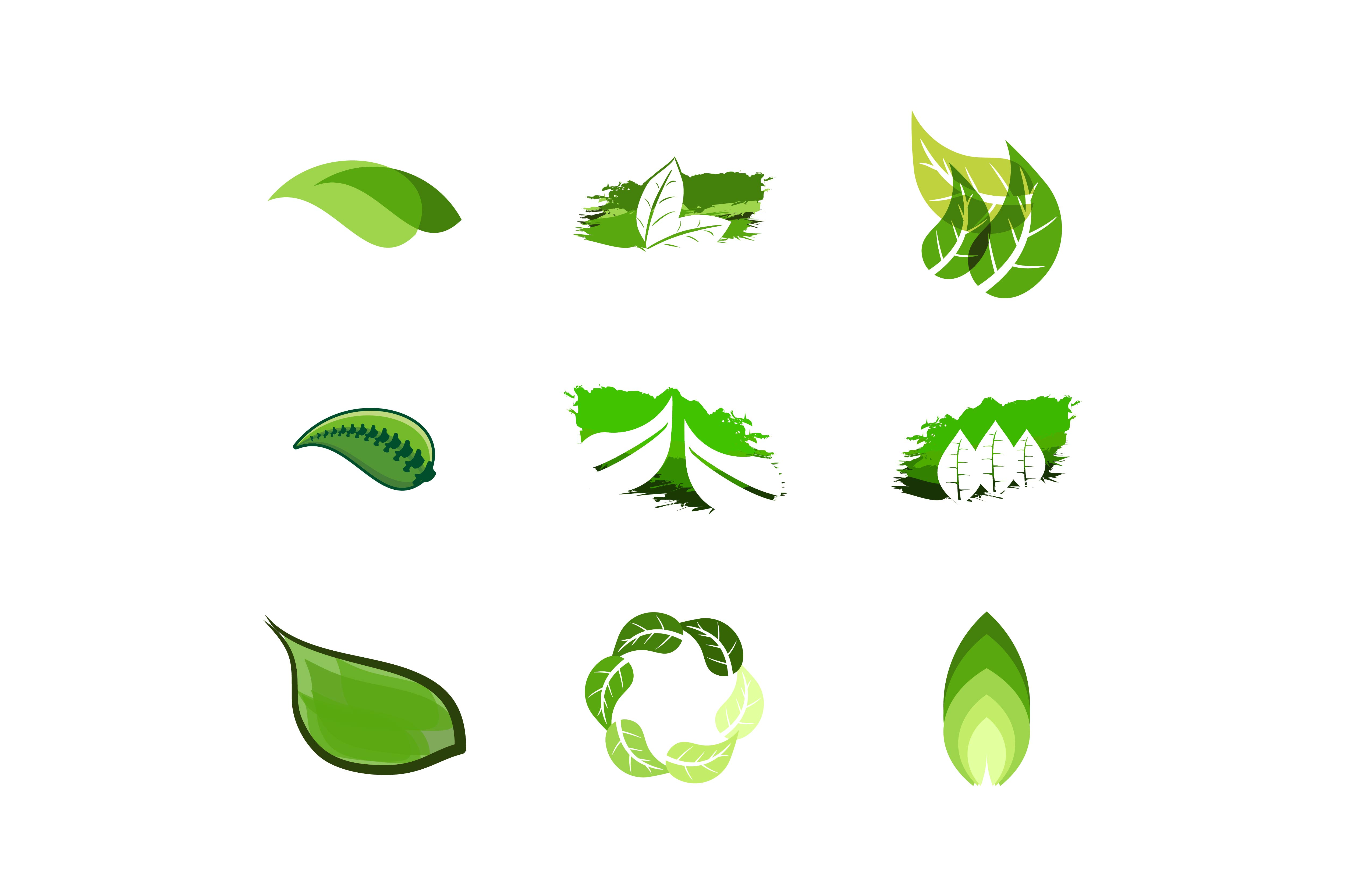 Download Free Green Leaf Logo Graphic By Yahyaanasatokillah Creative Fabrica for Cricut Explore, Silhouette and other cutting machines.