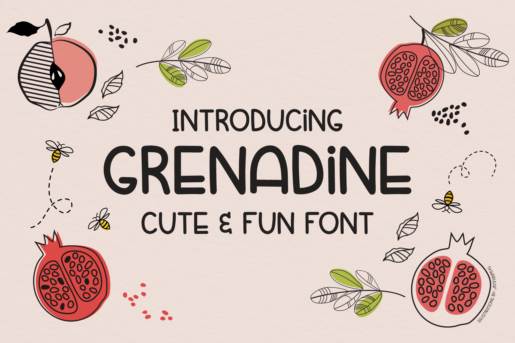 Download Free Grenadine Font By Emylia Design Creative Fabrica for Cricut Explore, Silhouette and other cutting machines.