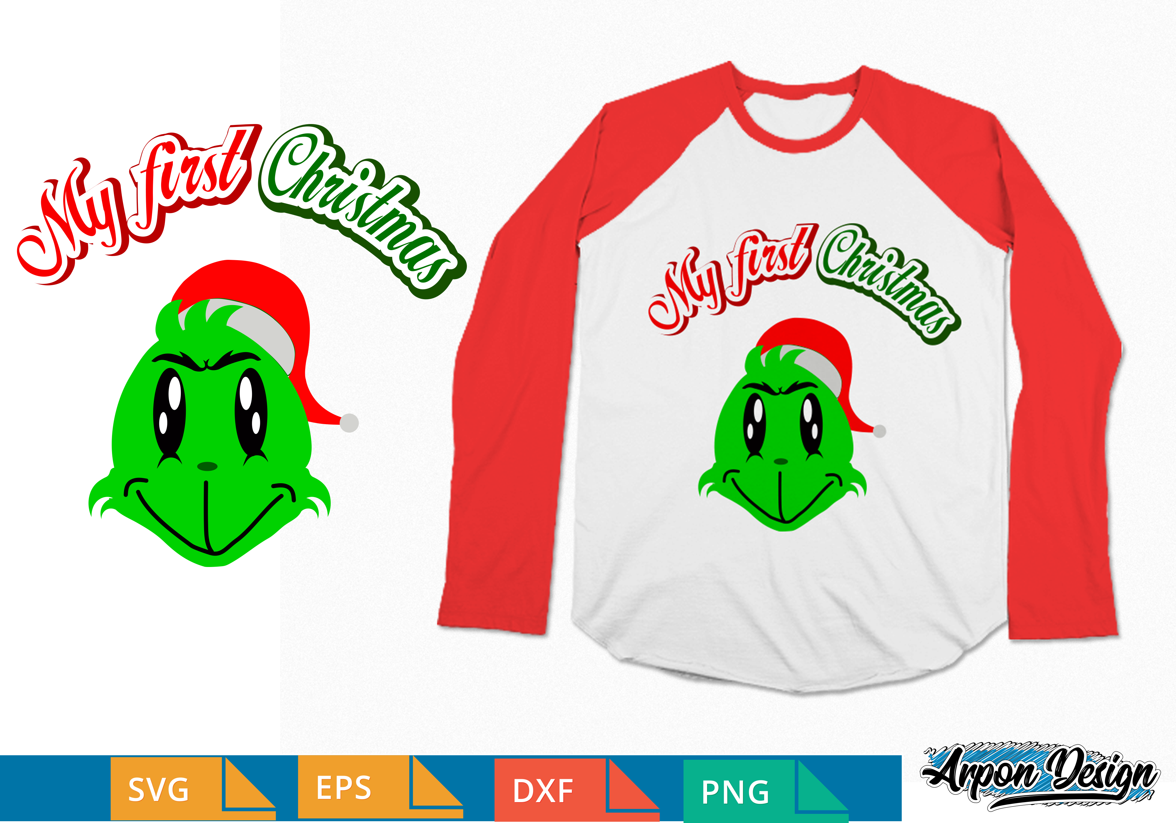 Christmas Grinch Svg.Grinch Baby My First Christmas Svg
