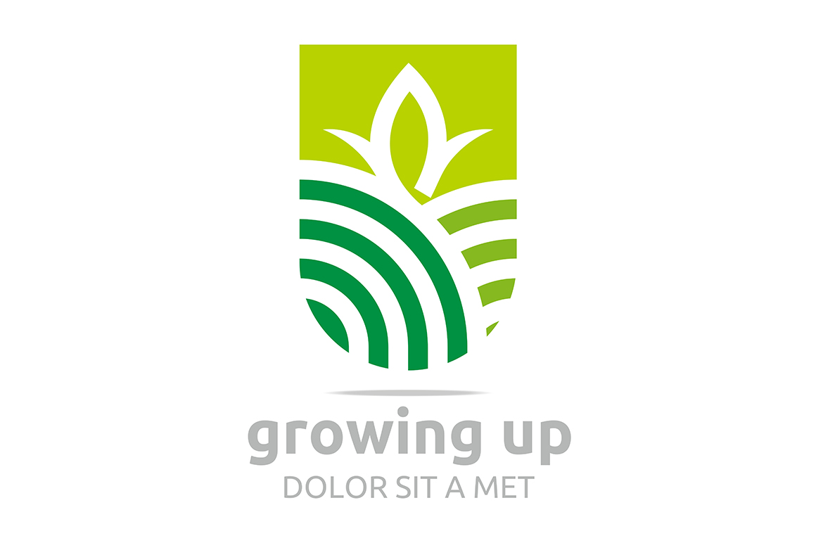 Download Free Growing Up Logo Graphic By Acongraphic Creative Fabrica for Cricut Explore, Silhouette and other cutting machines.